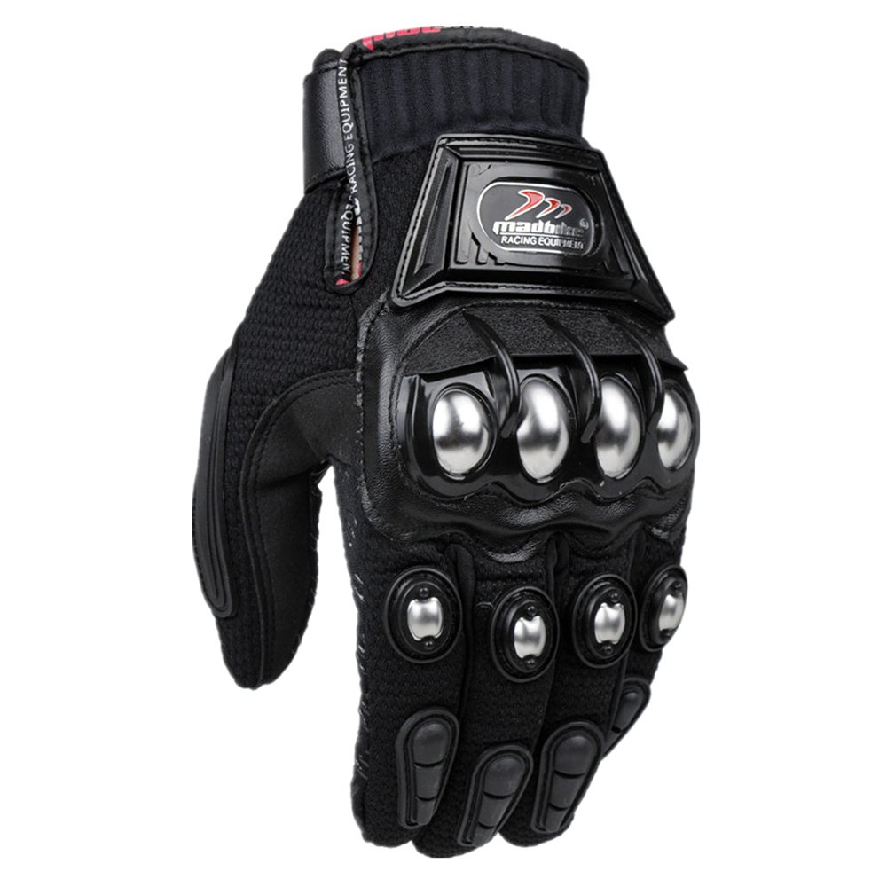 Motorcycle gloves all season - Amazon Com Ilm Alloy Steel Outdoor Gloves Motorcycle Powersports Racing Gloves Xl Black Automotive