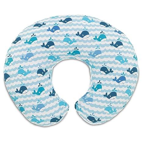 08079902350000 Chicco Almohada Boppy Enfermería con la cubierta, ballenas azules