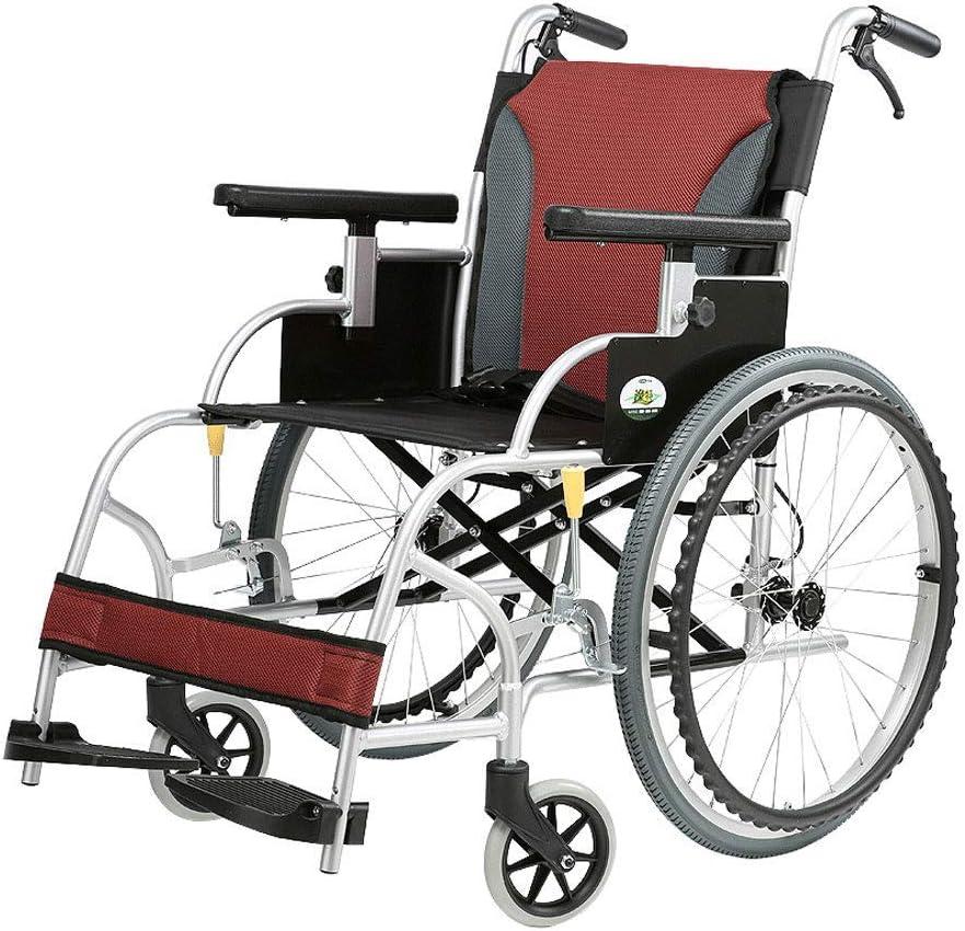 Wheelchair Silla de Ruedas médica, Silla de Ruedas Plegable Ligera económica