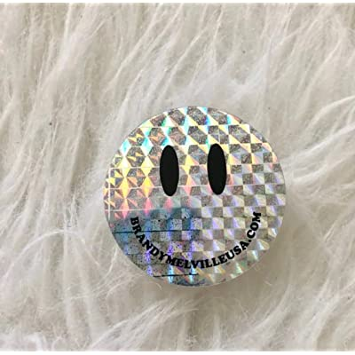 Holographic Smiley Face Sticker Brandy Melville: Kitchen & Dining