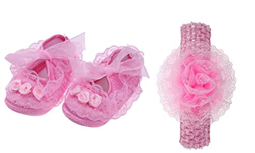 Baby Girl Shoes with Headband First
