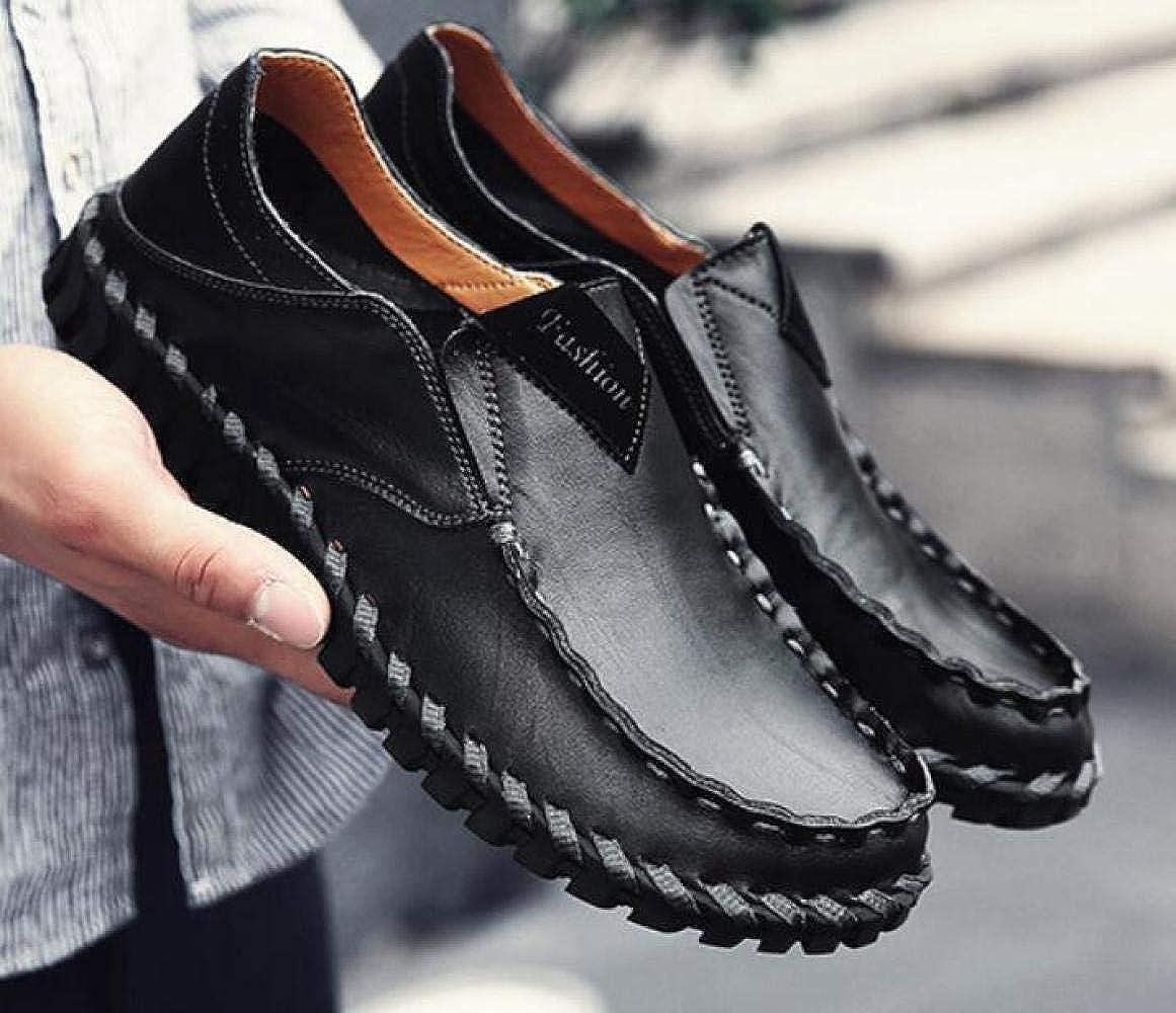 Leder Freizeitschuhe Herren Herrenschuhe Mode Herren Freizeitschuhe Lazy Schuhes schwarz 469a32