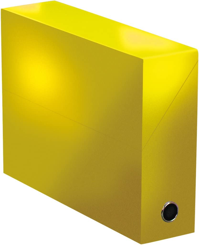 Elba 400080240 color life – Caja de transferencia ancho 9 cm 34 x 25,5 cm Plastificado, amarillo: Amazon.es: Oficina y papelería