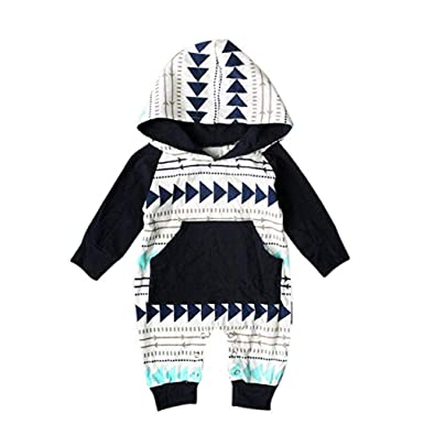 3cbe11a48 Amazon.com  Windoson Toddler Baby Boys Girls Jumpsuit Hooded Romper ...