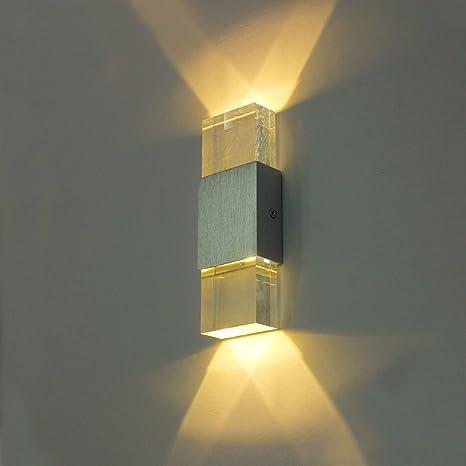 hibote moderna Alluminio 6W bianco caldo su giù parete faretti LED ...