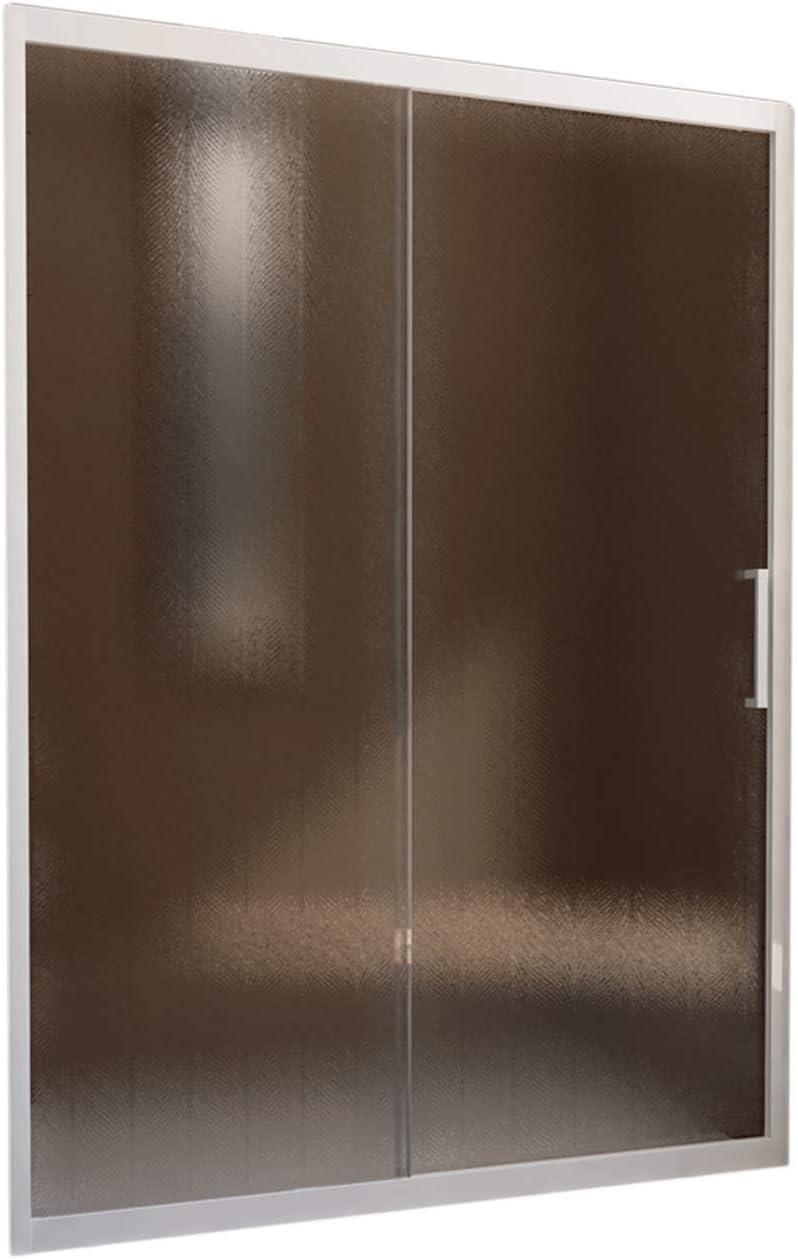 Porta Doccia Nicchia in PVC 130 CM H190 Vetro Trasparente mod Glax 1 Anta Profilo Bianco
