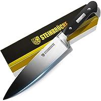 "STEINBRÜCKE Chef Knife 8 inch, Kitchen Knife,German 5Cr15Mov Stainless Steel Blade, Length-8"", Thickness-1/8"", HRC58 Sharp Dishwasher Safe Solid for Home Kitchen, Hand Polished"