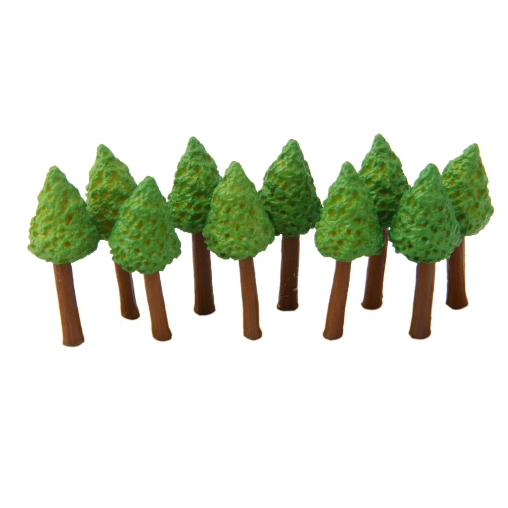 10pcs Miniature Fairy Garden Ornaments Resin Small Trees Generic