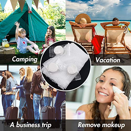 BigOtters 35 PCS Compressed Towel, 7.8 X 8.7 inches Hand Towels Tablet Towel Cotton Coin Tissue for Travel Camping Home Bathroom Beauty Salon Outdoor Sports Businesstrip