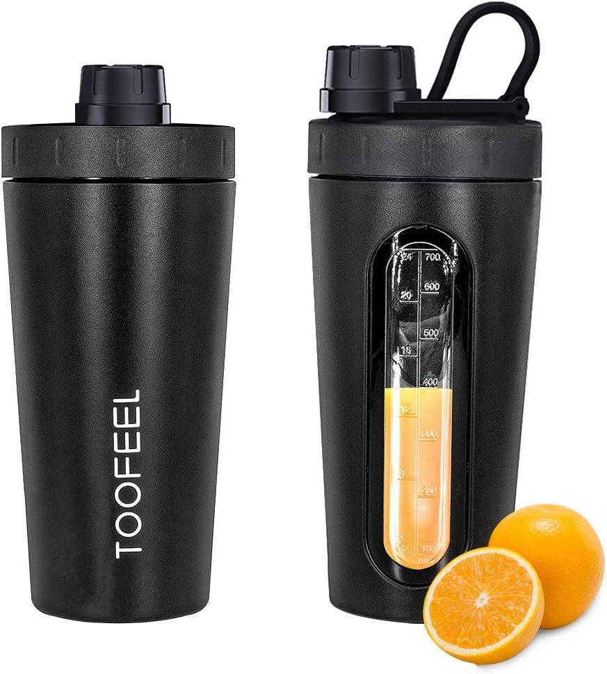 TOOFEEL - Botella mezcladora de Agua de Acero Inoxidable de 800 ml ...