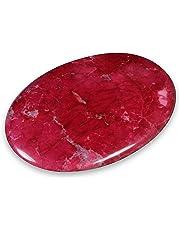 Red Howlite Palm Stone