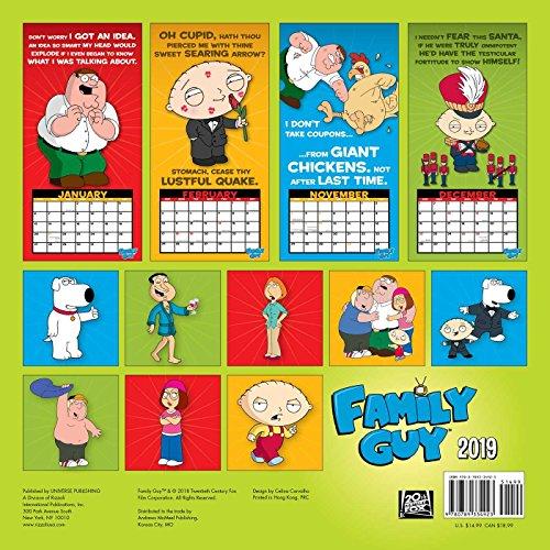 Family Guy 2019 Wall Calendar