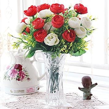 Beata T Künstliche Blumen Set Einfache Europäische Stil Blume Glas