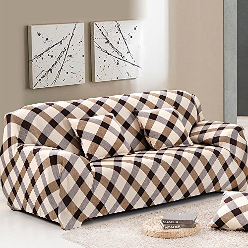 Bluecookies Printed Loveseat Cover Stretch 1 Peice Fabric