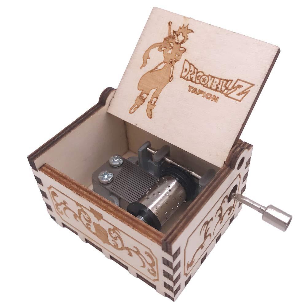 Dragon Ball Music Box Hand Crank Musical Box Carved Wood Musical Gifts,Play Dragon Ball Z-Tapion Theme