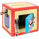 Bigjigs Toys Wooden Carry Lock Box - Activity Toy