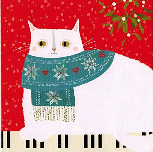 Christmas Cat Packaged Christmas Cards 2 Pack 16 Cards