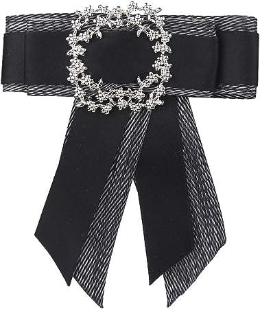 Broche Ladies Bow Ties, Camisa para Mujer, joyería Bow Tie Bow Ribbon Boda, Fiesta de Boda para Mujer y niña para Mujeres y niñas (Color : Black): Amazon.es: Hogar