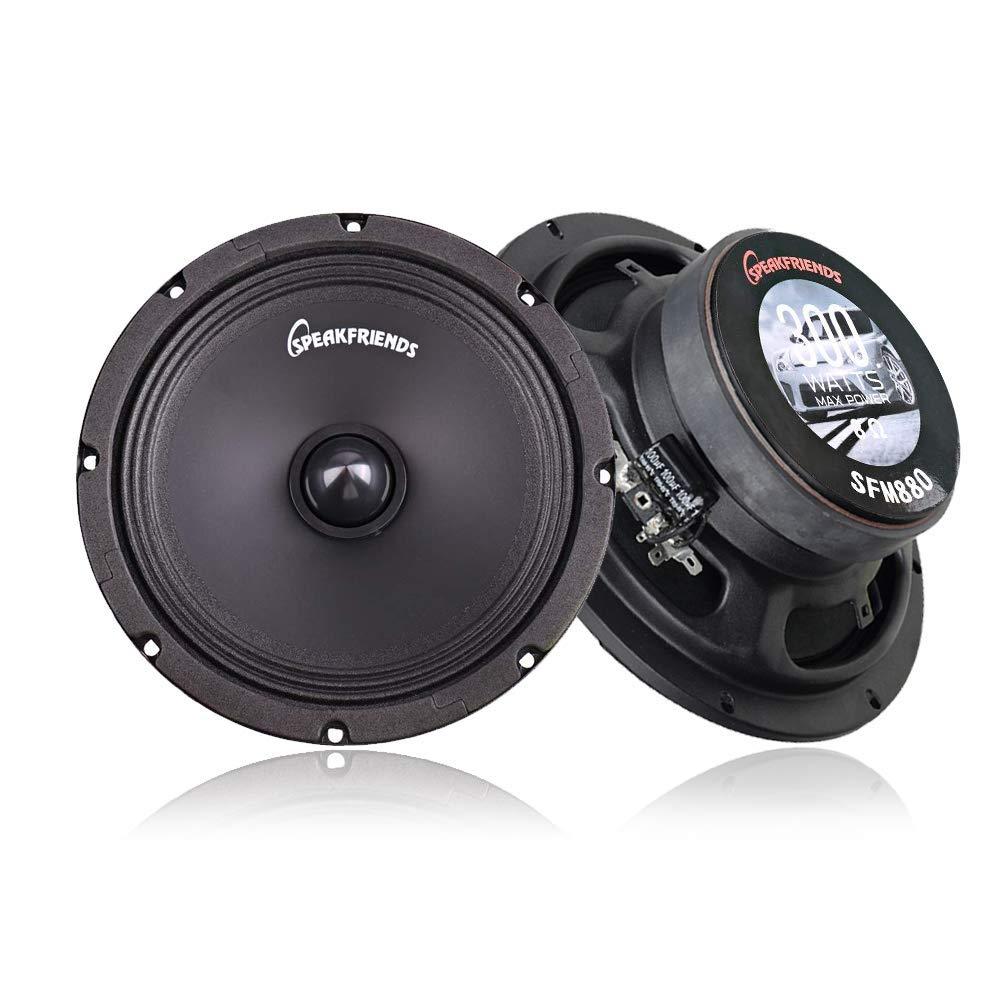 Set of 1 SPEAKFRIENDS 8 300 Watts Midrange Loudspeaker Pro Audio Car Speaker