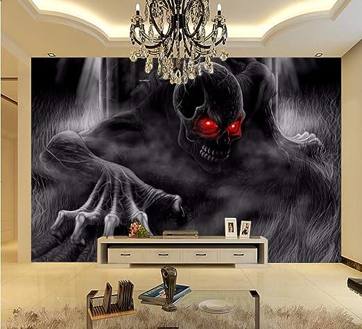 Ytdzsw Calavera Esqueleto Mural Wallpaper 3D Pared Murales De ...