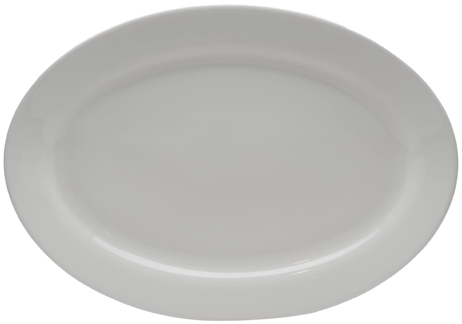 Set of 2 10 by 7-Inch Red Vanilla Pure Vanilla Oval Serving Platter