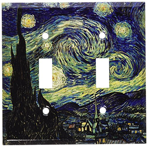 (Art Plates - Van Gogh: Starry Night Switch Plate - Double Toggle )