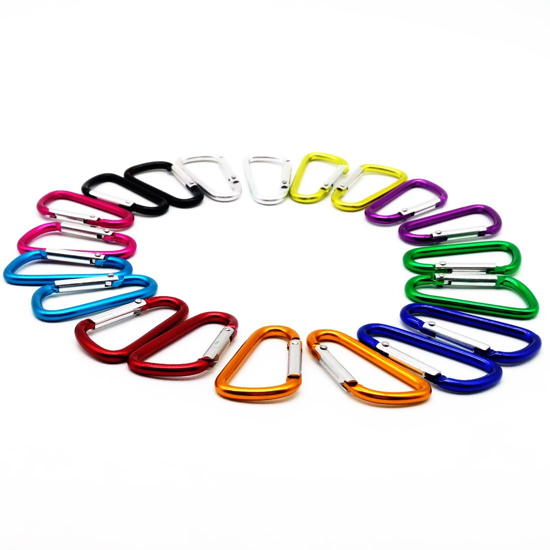 20PCS 2.0/5CM Aluminum D Ring Carabiner Clip,Lightweight Durable Small Caribeaner Keychain Hook For Home,Outdoor,Camping,Rv,Hiking,Travling,Fishing and Keychain Fishing and Keychain HDSUDCG Style #1