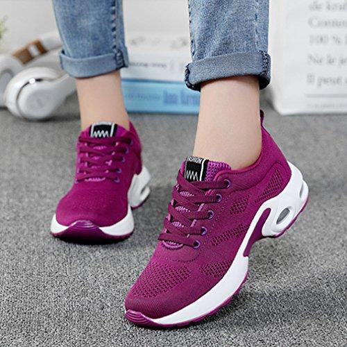 Air Purple Lightweight Gym Shoes Sneaker Women WYSBAOSHU Running Walking nSPqpS7c