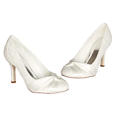Minishion GYMZ672 Womens Stiletto High Heel Satin Evening Party Bridal Wedding Knot Shoes
