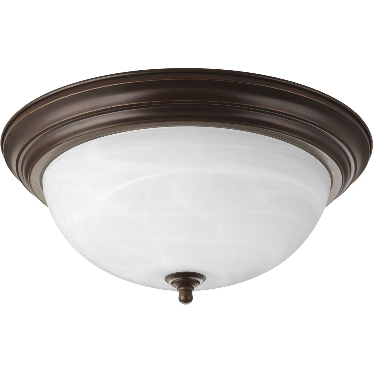 Progress Lighting P3926-20 3-Light Flushmount, Antique Bronze by Progress Lighting