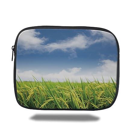 Amazon com: iPad Bag,Plant,Asian Cultivated Farm Paddy Rice