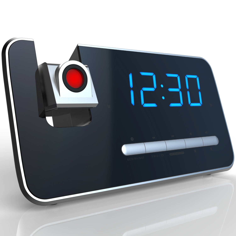 Amazoncom Projection Alarm Clock With AMFM Radio