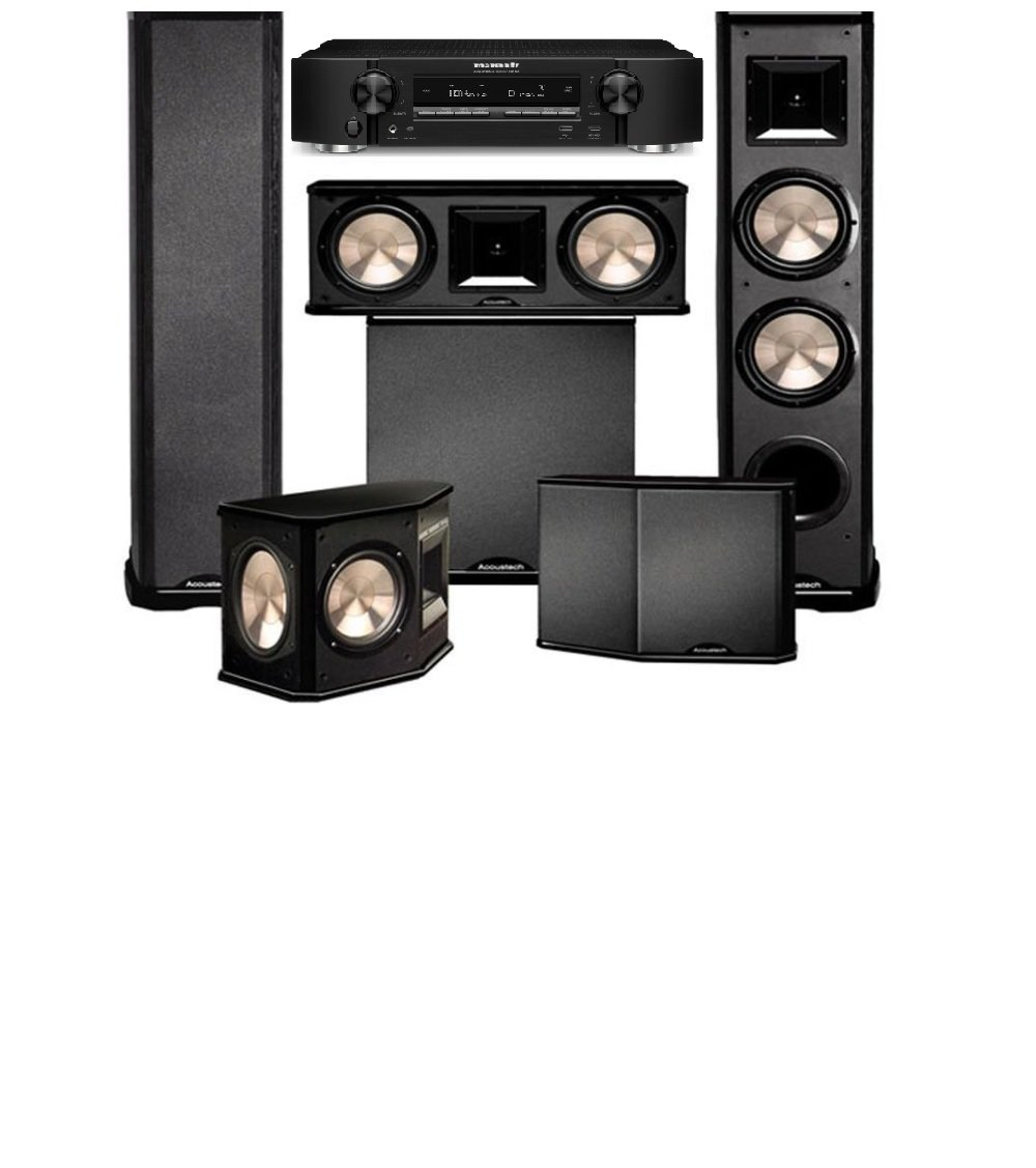Marantz NR1608 with BIC Acoustech PL-89II Theater System and PL-200 is a New Home Theater System