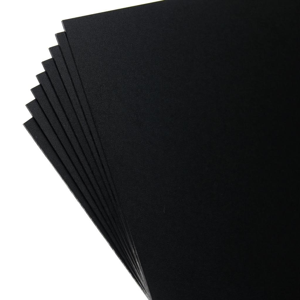 "KYDEX V Sheet - 0.080'' Thick, Black, 12"" x 12"" Nominal, 8PACK"