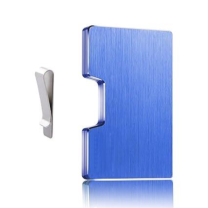Dlife Hombre Tarjeteros -Tarjeteros Para Tarjetas de Crédito RFID de Aluminio Negocio Mini Carteras para