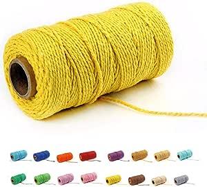 1 X 5mm 250g Macrame Cotton Cord String Rope Craft Knitting Crochet DIY