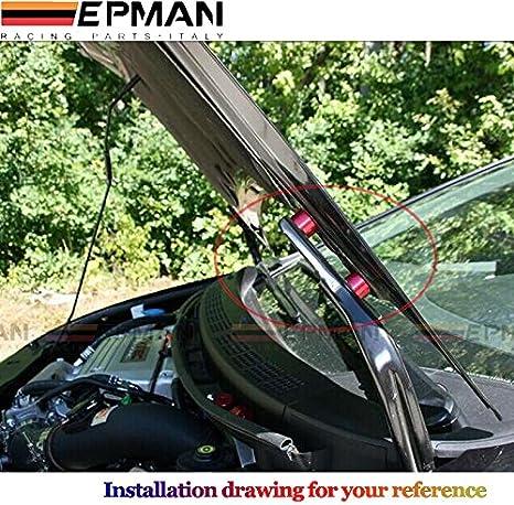 Hood Spacer Riser-Aluminum Alloy Engine Hood Ventilation Spacer Riser Kit For 6mm Turbo Motor