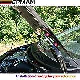"EPMAN 1"" Billet Hood Vent Spacer Riser Kits For All Turbo/Engine/Motor Swap 6MM"