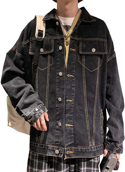 [MLboss]メンズ デニム ジャケット 長袖 ゆったり ジーンズ プリント絵 ファッション アウター ジャンパー ストリート系 韓国ファッション 秋服
