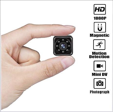 SAIYA Mini cámara espía Oculta, grabadora de Video portátil HD 1080P con visión Nocturna por