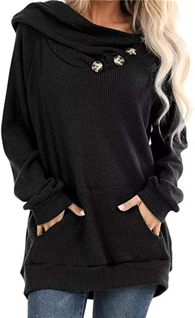 Yemenger Knit Blouse for Ladies Front Knot Casual Loose Sweater Cute Shirts Tops