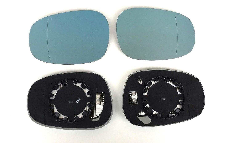 Spiegel Spiegelglas links rechts 2er Set beheizt blau Ersatzglas f/ür elektrische Aussenspiegel