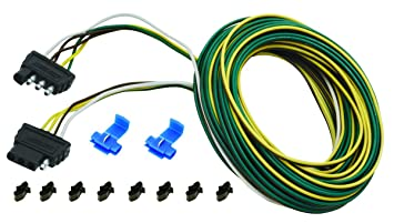 Wesbar 707104 30' Wishbone Trailer Wiring Harness Kit on trailer generator, trailer hitch harness, trailer plugs, trailer brakes, trailer fuses, trailer mounting brackets,