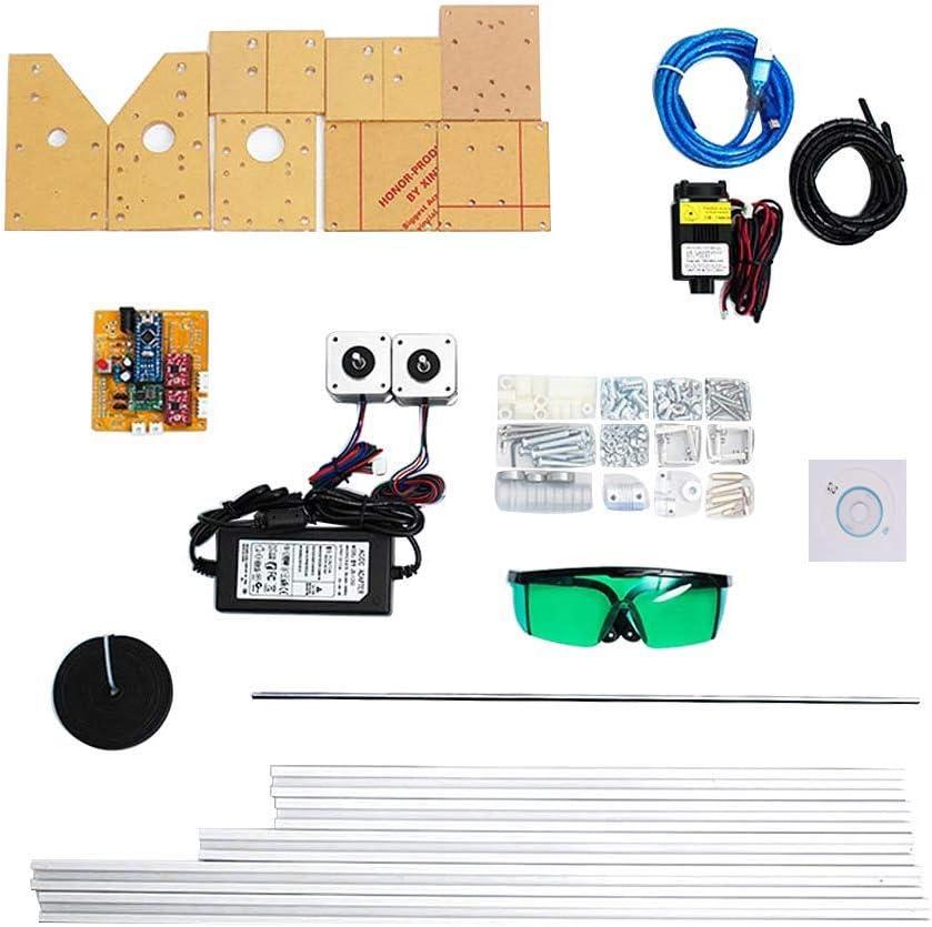 impresora de oficina de 2 ejes para cuero M/áquina de grabado l/áser para grabado de madera para enrutador CNC pl/ástico impresora de bricolaje con logotipo