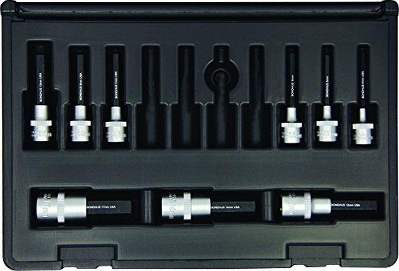 "Bondhus 30298 Socket Hex Bit Tool Set w/Sockets, 2"", 9 Piece"