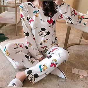 ZHANGNUO Conjuntos De Pijamas De Anime Ropa De Dormir De Manga Larga Traje De Dibujos Animados Inicio Mujeres Pijamas Ropa De Dormir Primavera Y Otoño ...