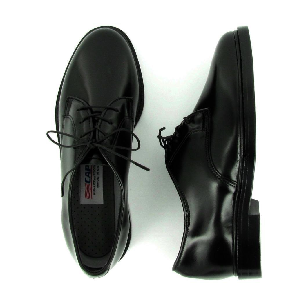 Capps Airlite Women's Lite Uniform Shoes B009YIICOA 9.5 E US|Black Shiny