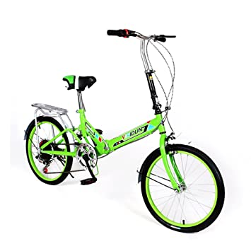 XQ XQ163URE 20 Pulgadas Bicicleta Plegable 6 Velocidad Bicicleta Hombres Y Mujeres Bicicleta Adulto Bicicleta Para