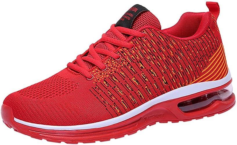 Homme Chaussures De Course Légère Running Sport Compétition Trail Entraînement Outdoor Respirant Mesh Confortable Ete Solde Baskets Basse Air Cushion