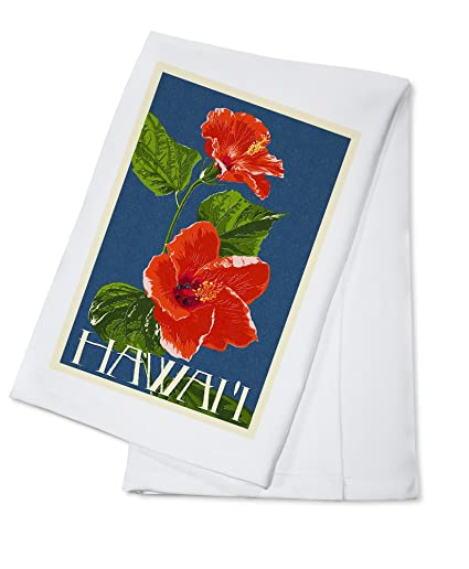 Amazon com: Hawaii - Red Hibiscus Flower Letterpress (100